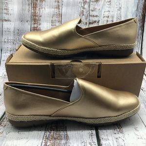 Comfortview Baylee gold slip on shoes sz 9WW